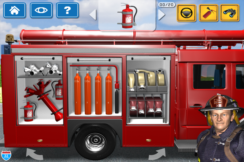 Screenshot Kids Vehicles 1: Interactive Fire Truck – 3D Games for Little Firefighters and Drivers of Firetrucks
